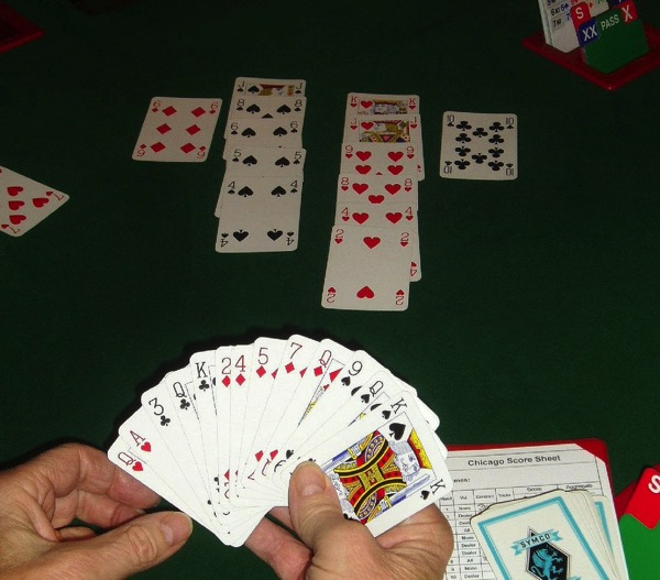 Card game bridge hand