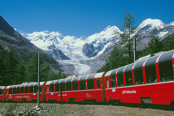 Swiss train Bernina Express