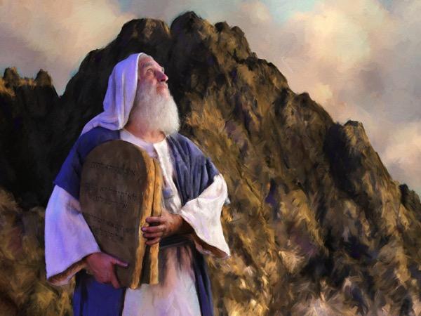 Moses on mountain